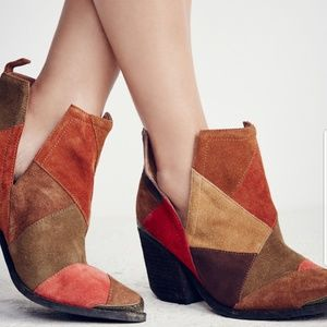 Free People / Jeffrey Campbell patchwork cromwell